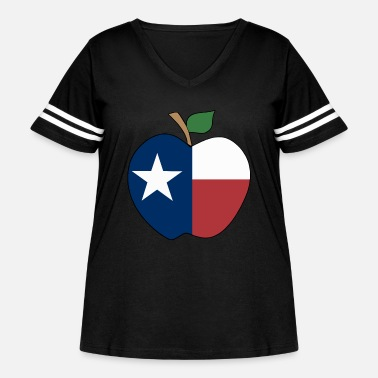 Texas texas teacher t shirts - Women's Curvy Vintage Sport T-Shirt