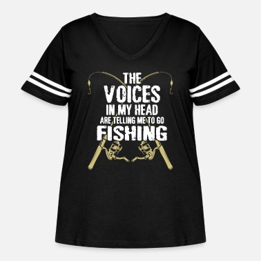 Telling the voices in my head are telling me to go fish t - Women's Curvy Vintage Sport T-Shirt