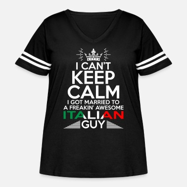 Italian I Cant Keep Calm Awesome Italian Guy - Women's Curvy Vintage Sport T-Shirt