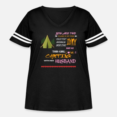 Partner Camping With My Husband T Shirt - Women's Curvy Vintage Sport T-Shirt
