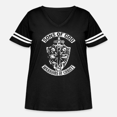 Warrior Of Christ Sons of god warriors of christ - Women's Curvy Vintage Sport T-Shirt