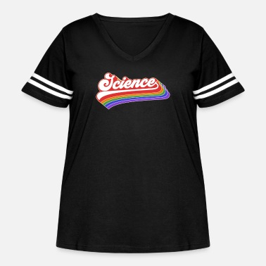 Down Science Design. Retro Style Product For Teachers - Women's Curvy Vintage Sport T-Shirt