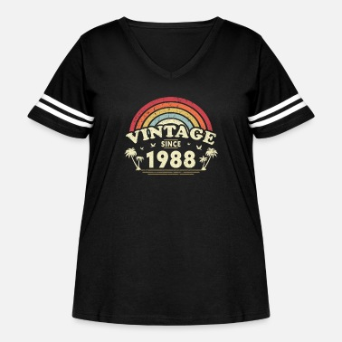 Punch Vintage Since 1988, Birthday Gift For Men And - Women's Curvy Vintage Sport T-Shirt