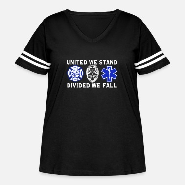 Fall United We Stand Divided We Fall Paramedic T Shirt - Women's Curvy Vintage Sport T-Shirt