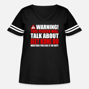 Self Caution only Jeet Kune Do - Women's Curvy Vintage Sport T-Shirt