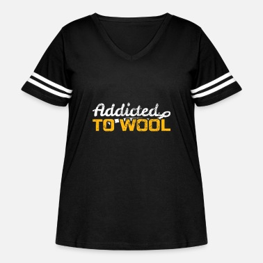 Wool Wool ball of wool - Women's Curvy Vintage Sport T-Shirt
