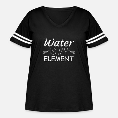 Water Sports Water element water sport - Women's Curvy Vintage Sport T-Shirt