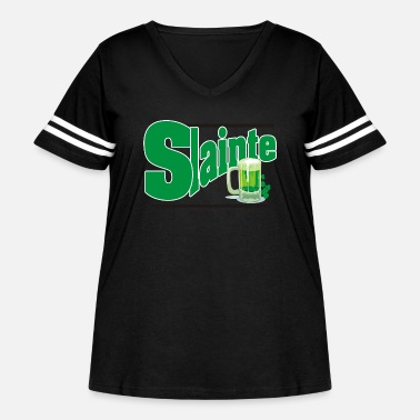 Ireland Slainte Bitches - Women's Curvy Vintage Sport T-Shirt