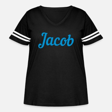 Jacob ❤✦Jacob-Best Top Male Name Jacob Vector Design✦❤ - Women's Curvy Vintage Sport T-Shirt