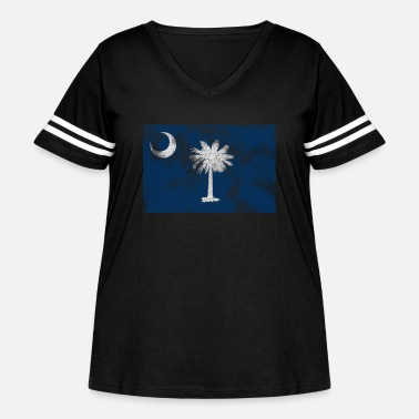 South Aged South Carolina State Flag - Women's Curvy Vintage Sport T-Shirt