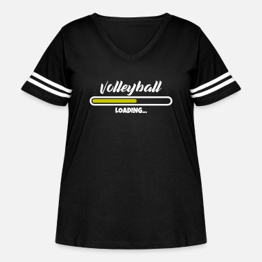 Wait Volleyball loading please wait - Women's Curvy Vintage Sport T-Shirt