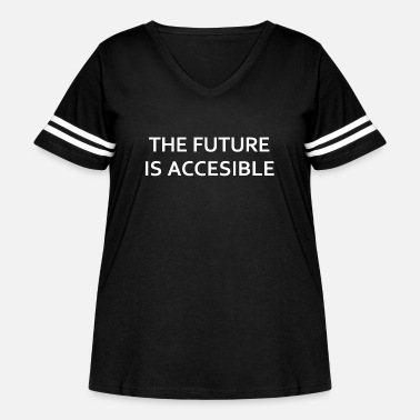 Advocate The Future Is Accessible - Women's Curvy Vintage Sport T-Shirt