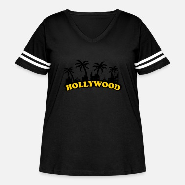 Hollywood hollywood - Women's Curvy Vintage Sport T-Shirt