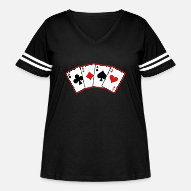 Cards cards - Women's Curvy Vintage Sport T-Shirt