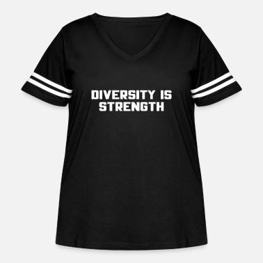 Diversity Diversity Is Strength - Women's Curvy Vintage Sport T-Shirt