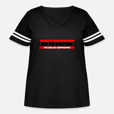 No to Racism - Anti Racism - Women's Curvy Vintage Sport T-Shirt