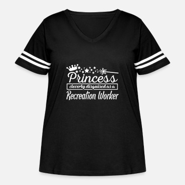 Recreational Recreation Worker - Women's Curvy Vintage Sport T-Shirt