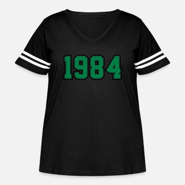 Year Of Birth 1984 | Year of Birth | Birth Year | Birthday - Women's Curvy Vintage Sport T-Shirt