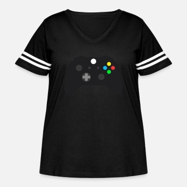 On Control Xbox One Controller - Women's Curvy Vintage Sport T-Shirt