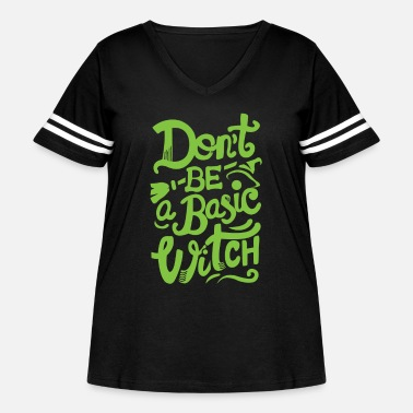 witch - Women's Curvy Vintage Sport T-Shirt