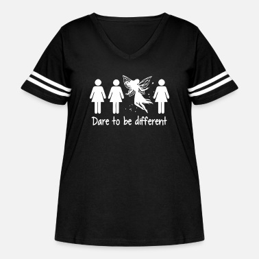 Daring Girl dare to be different shirt - Women's Curvy Vintage Sport T-Shirt