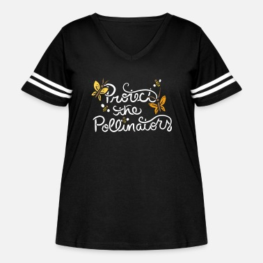 Pollinate Protect the pollinators - Women's Curvy Vintage Sport T-Shirt