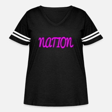 National NATION - Women's Curvy Vintage Sport T-Shirt