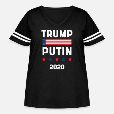 Pay Donald Trump President 2020 - USA Flag Gift - Women's Curvy Vintage Sport T-Shirt