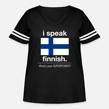 Language Finnish superpower - Women's Curvy Vintage Sport T-Shirt