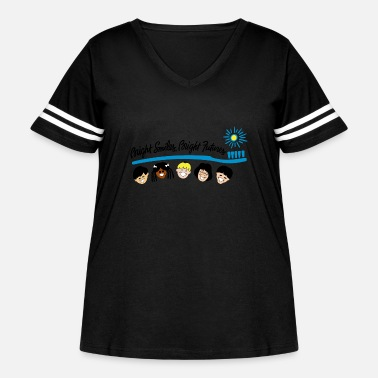 Bright Bright Smiles Bright Futures - Women's Curvy Vintage Sport T-Shirt