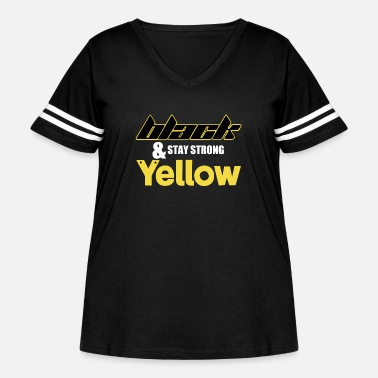 Yellow Black And Stay Strong Yellow - Women's Curvy Vintage Sport T-Shirt