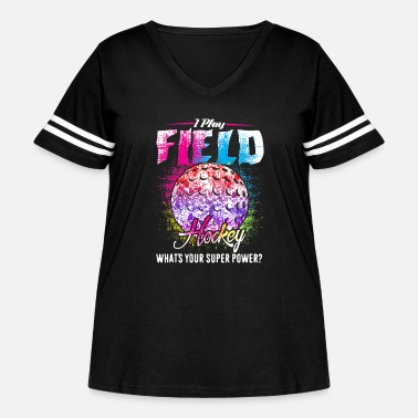 Playing Field I Play Field Hockey Shirts - Women's Curvy Vintage Sport T-Shirt