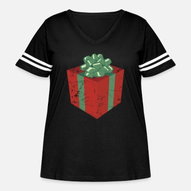 Christmas Present Vintage Christmas Present and Holiday Gift Package - Women's Curvy Vintage Sport T-Shirt