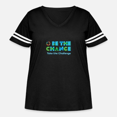 Change Be the Change - Women's Curvy Vintage Sport T-Shirt