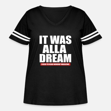 Hip Notorious B I G Biggie Smalls It Was All A Dream H - Women's Curvy Vintage Sport T-Shirt