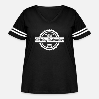 Driving School Driving instructor - Women's Curvy Vintage Sport T-Shirt