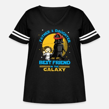 Daughter Father and Daughter in the Galaxy - Women's Curvy Vintage Sport T-Shirt