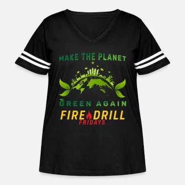 Drill fire drill fridays climate save - Women's Curvy Vintage Sport T-Shirt