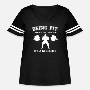 Inspiration Being Fit Is A Necessity - Women's Curvy Vintage Sport T-Shirt