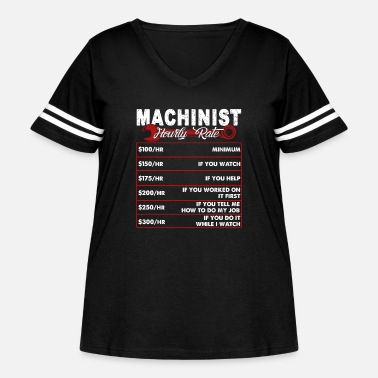 Rate MACHINIST HOURLY RATE SHIRT - Women's Curvy Vintage Sport T-Shirt