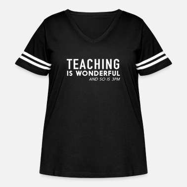 Teaching is Wonderful and so is 3PM - Women's Curvy Vintage Sport T-Shirt