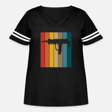 Nuclear Uzi best gift for gun lovers - Women's Curvy Vintage Sport T-Shirt