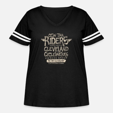 Tha Riders Stacked 2 Logo Design - Women's Curvy Vintage Sport T-Shirt