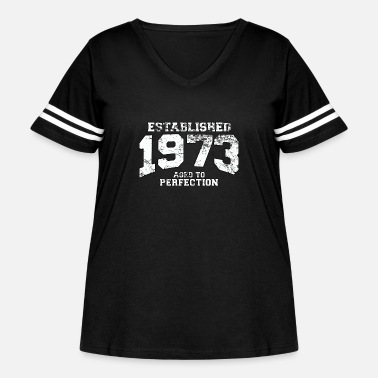 Established established_1973 - Women's Curvy Vintage Sport T-Shirt