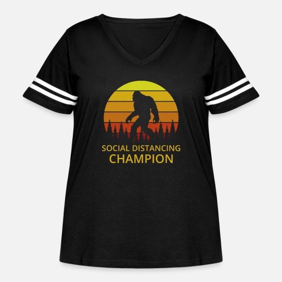 Vintage Social Distancing Champion Funny Bigfoot Toilet Paper Shortage T-Shirt