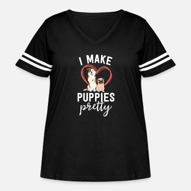 Funny Dog Groomer Gift Spa Grooming I Make - Women's Curvy Vintage Sport T-Shirt