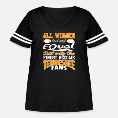 Countrymusic Tennessee fans - All women are created equal - Women's Curvy Vintage Sport T-Shirt