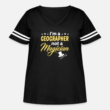 Geographic Geographer - Women's Curvy Vintage Sport T-Shirt