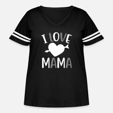 I Love Mama I love mama lovely quote - Women's Curvy Vintage Sport T-Shirt