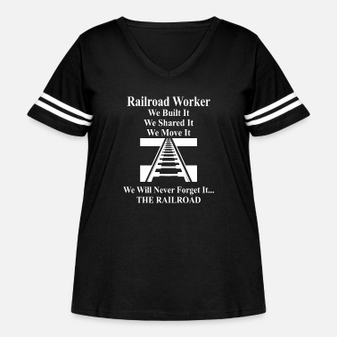 Bnsf Railroad Worker - Women's Curvy Vintage Sport T-Shirt